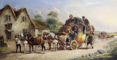 John_Charles_Maggs_-_Royal_Coach;_Bath_to_Exeter_Stage;_Manchester_to_London_Coach