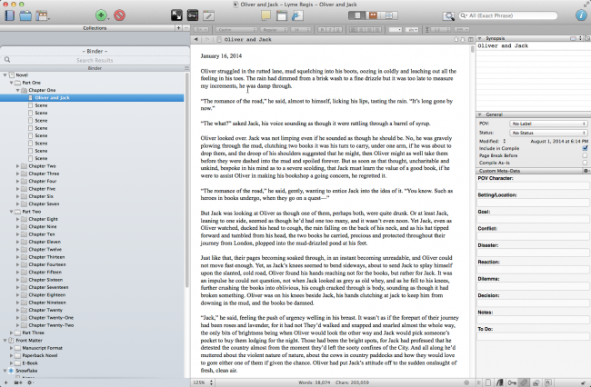 Starting a Novel in Scrivener