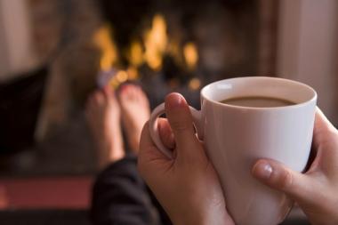 Warm Fire and Coffee