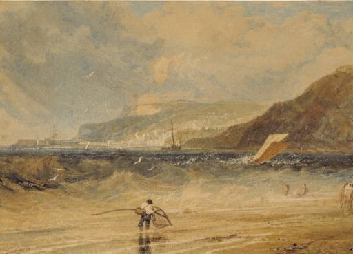 Lyme Regis, Dorsetshire: A Squall circa 1812 Joseph Mallord William Turner 1775-1851 Glasgow Museums http://www.tate.org.uk/art/work/TW0286